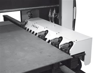 Cabina de pintura - biselado automático