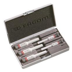 Caja de 5 destornilladores Micro-Tech® Ranura- Po PEGAMO