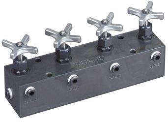 Bloques de distribuidor con válvulas de aguja