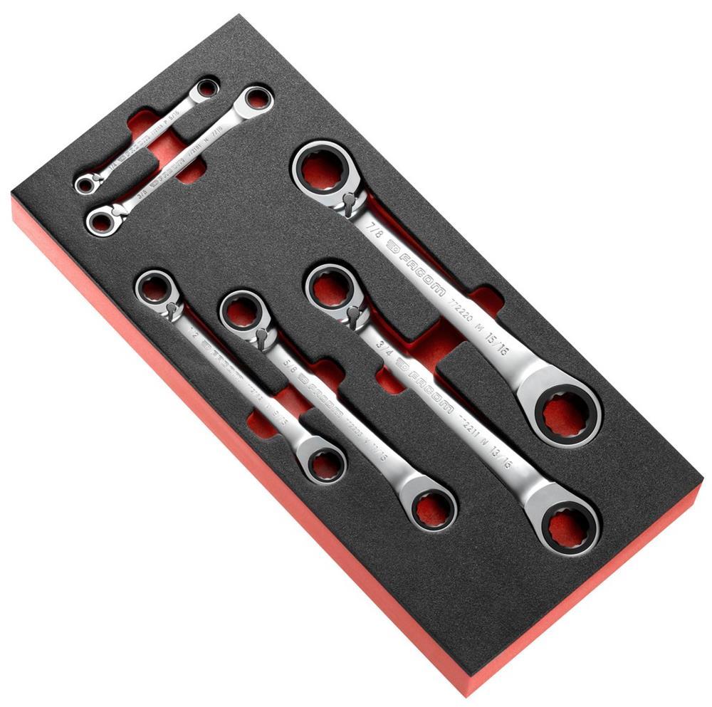 Módulo espuma de 6 llaves poligonales con trinquet