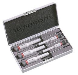 Caja de 5 destornilladores Micro-Tech® Ranura PEGAMO