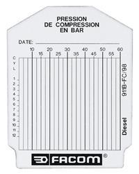 Bolsa de 100 fichas de control - diésel PEGAMO