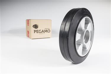 Pack ruedas de nylon y goma para transpaleta