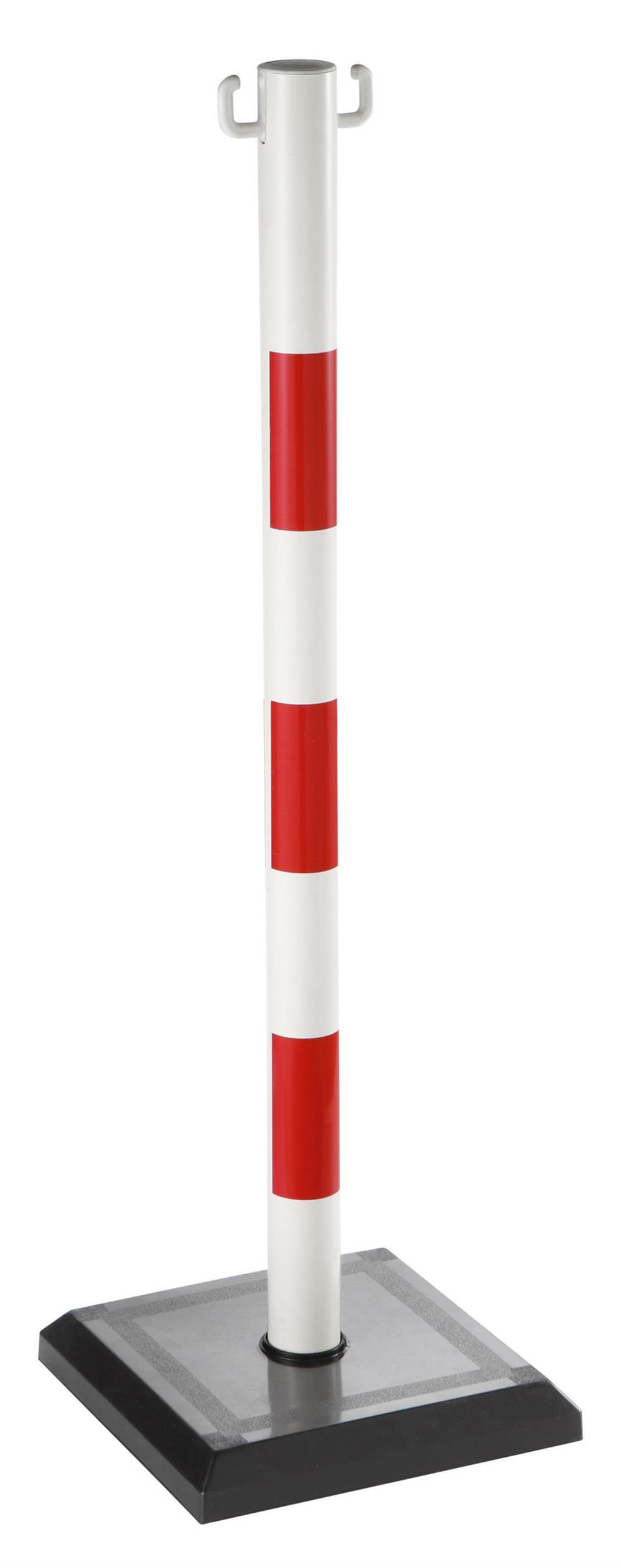 Baliza soporte rojo y blanco