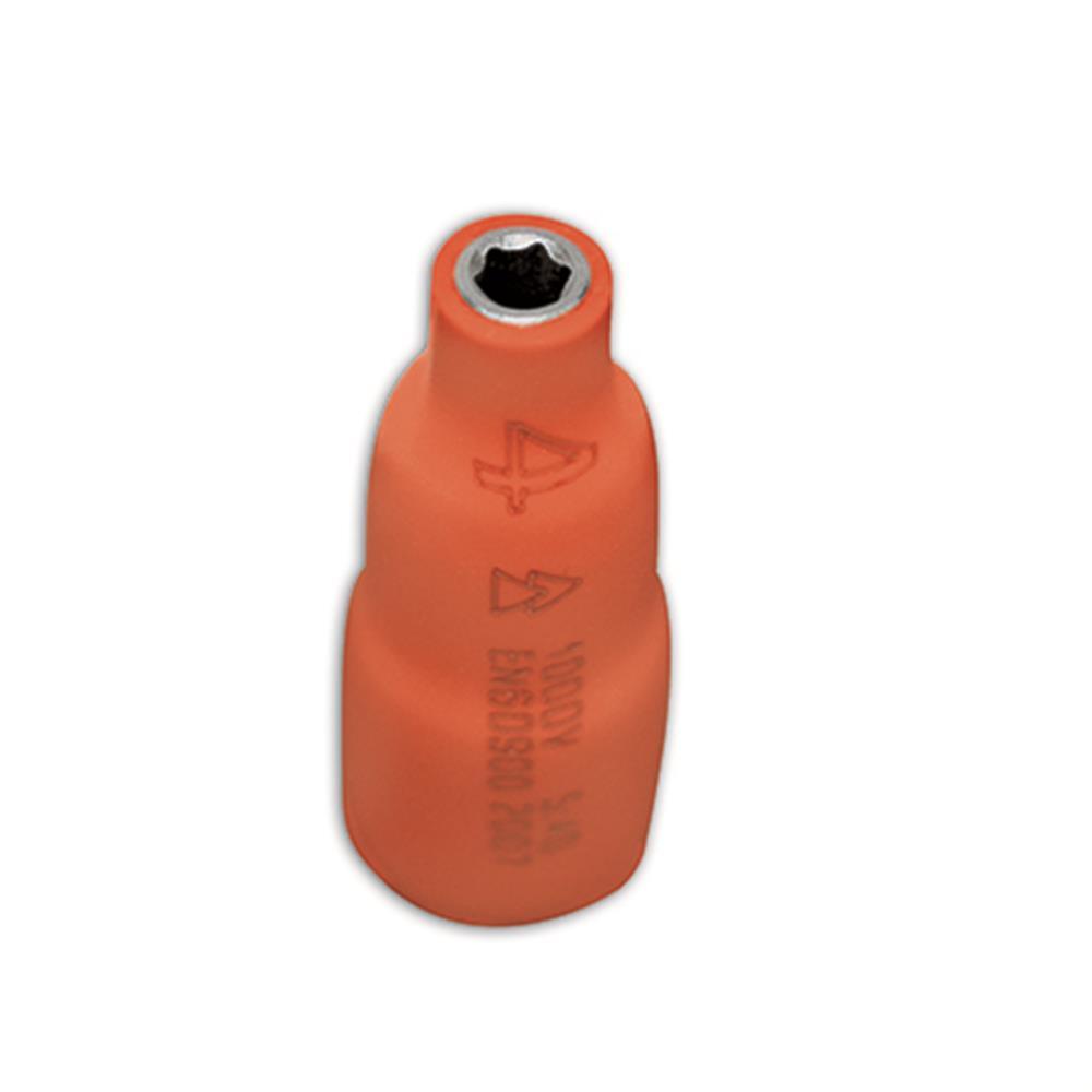 Llave de vaso de 1/4 MM 6 cantos 1000V PEGAMO